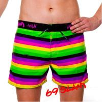 Мужские серфшорты 69 Slam Lines Green Long Length Boardshort SLLLNG-PM